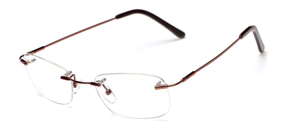 Beecher Rimless Titanium Glasses felix + iris