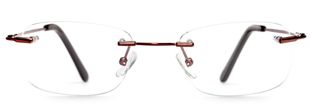Beecher Rimless Titanium Glasses felix + iris