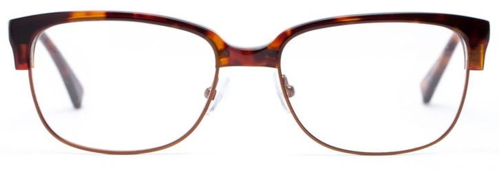 Angle of Cameron in Mahogany Tortoise + Brown, Women's and Men's