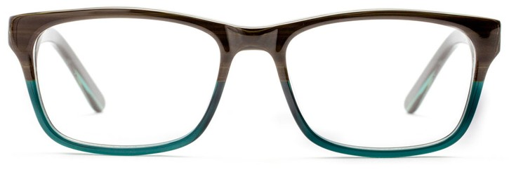 Angle of Spencer in Evergreen + Lake Blue, Women's and Men's